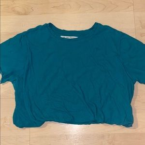 Free People Turquoise Crop Top